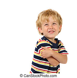 Happy Boy - a young boy smiles at the camera