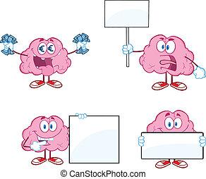 Brain Cartoon Mascot Collection 6