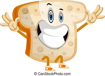 Happy Bread illustration vector on white background