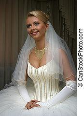 Happy Bride - The beautiful bride prepares for wedding