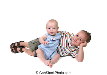 Happy Brothers Interacting Together