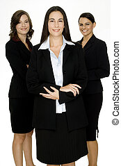Happy Business Group - Three confident happy women in...