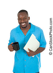 Happy Business Man On Break 1 - Smiling business man,...