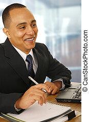 Happy Business Man Working