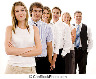 Happy Business Team - A smiling group of business people in ...