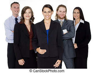 Happy Business Team - A smiling group of business...