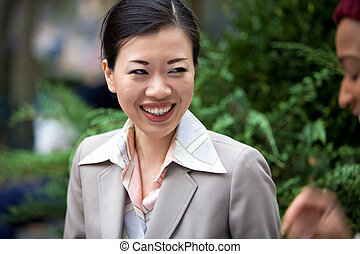 Happy Business Woman Laughing