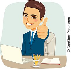 Happy Businessman At Office