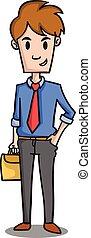 Happy businessman character design cartoon