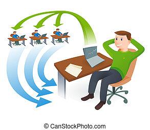 Happy Businessman Illustration - Succesfull affiliate...