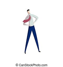 Happy businessman on white background. Business concept.