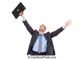 Happy businessman - Portrait of successful businessman with...