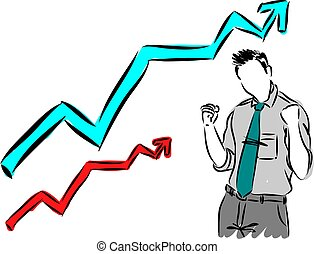 happy businessman vector illustration