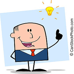 Businessman With A Bright Idea