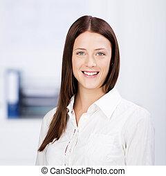 Happy businesswoman - Close up portrait of happy...