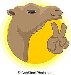 Creative design of happy camel
