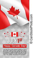 Happy Canada Day 1st of July flyer