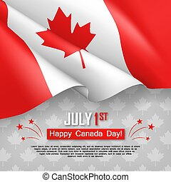 Happy Canada Day 1st of July greeting card