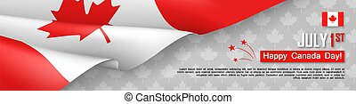 Happy Canada Day 1st of July postcard template