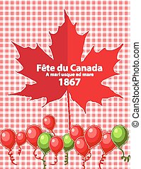 Happy Canada Day card in vector format.