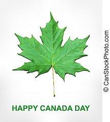 Happy Canada Day card in vector format.