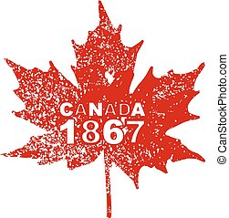 Happy Canada Day card in vector format. 10 eps