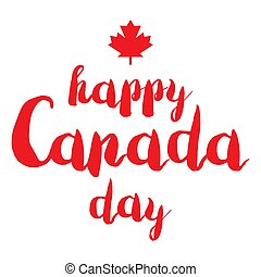 Happy Canada Day Celebration Banner. 1st Jule Holiday....