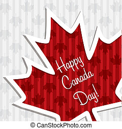 Happy Canada Day! - 'Happy Canada Day' sticker card in...