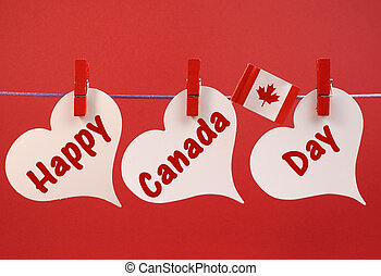 Happy Canada Day message greeting with the Canadian maple...