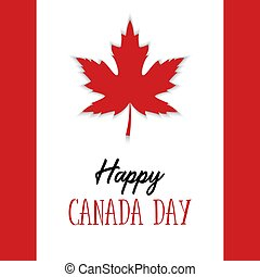 4fd8f3c41 Happy canada day poster. maple leaf with text message art design for ...