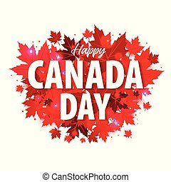Happy Canada Day poster. 1st july. Illustration greeting...