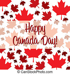 Happy Canada Day! - Happy Canada Day card in vector format.