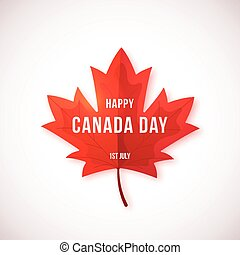 Happy Canada Day vector design isolated on white background.