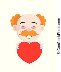 Happy Cardiologist Doctor Holding a Heart Vector
