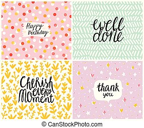 Happy cards set 3, vector templates