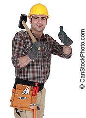 happy carpenter
