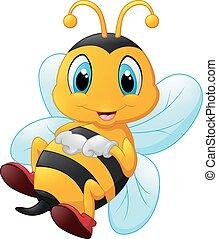 Happy carton bee