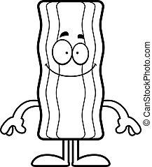 Happy Cartoon Bacon Strip