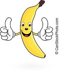 Happy Cartoon Banana