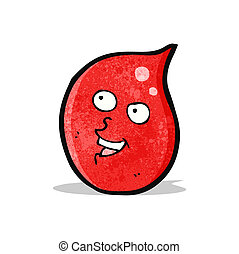 happy cartoon blood drop