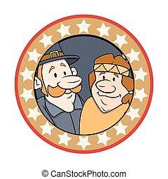Happy Cartoon Characters