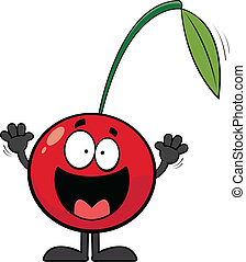 Happy Cartoon Cherry