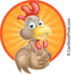 Happy Cartoon Chicken - A fun happy cartoon chicken mascot...
