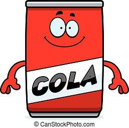 Happy Cartoon Cola Can