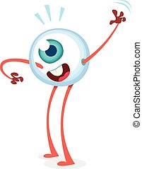 Happy cartoon eye monster