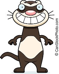Happy Cartoon Ferret