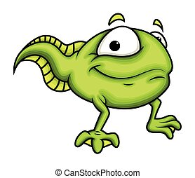 Happy Cartoon Frog Character