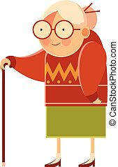 Happy cartoon Grandmother