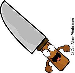 Happy Cartoon Knife