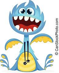 Happy cartoon monster vector